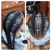 hair braid mandala
