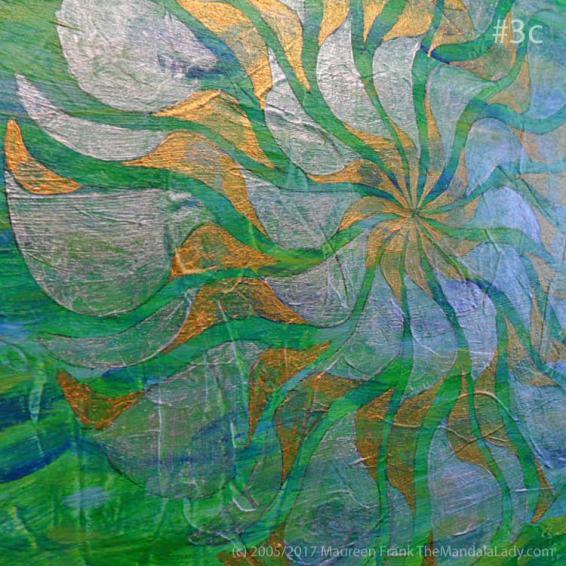 Breezy Mandala - Day 3: #3c - side view of today's progress