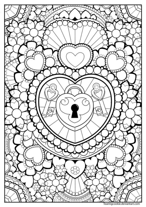 Dibujos Tiernos De Amor Para Pintar Y Dedicar Colorear Imagenes