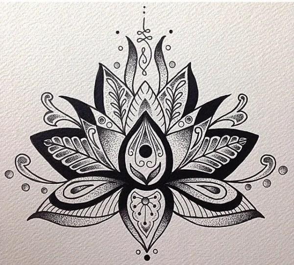 Flor De Loto Mandala Tattoo Design