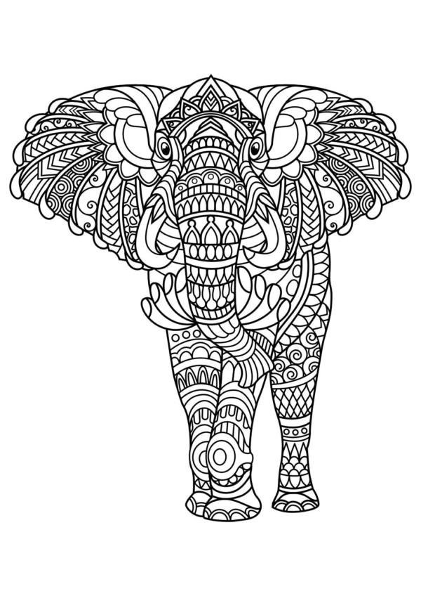 Diseños de Elefantes hindúes en mandalas: Significado y