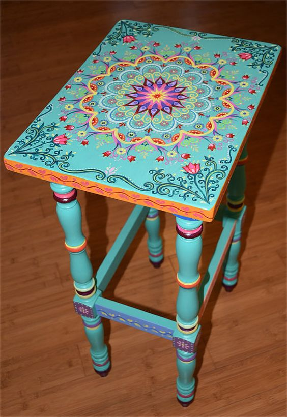 Cmo pintar bonitos mandalas en madera  Mandalas