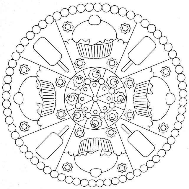Bonitos Mandalas para nios Diseos para colorear y aumentar la concentracin e imaginacin en