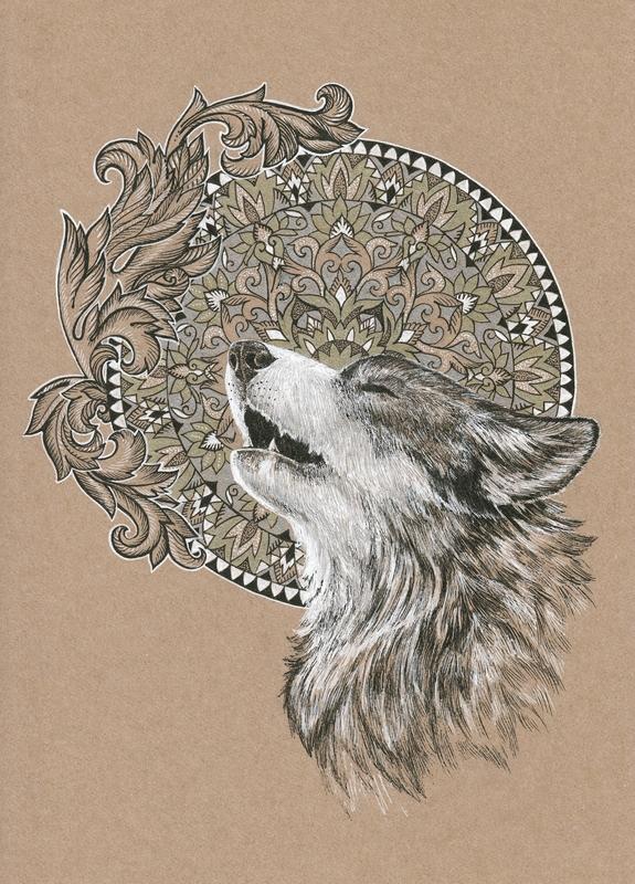 Wolf Mandalas : mandalas, Mandala, Mandalas