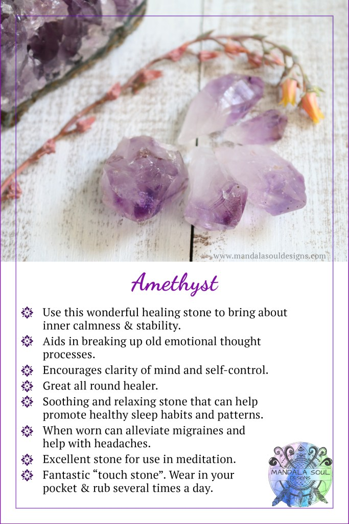 Healing properties of Amethyst || Mandala Soul Designs