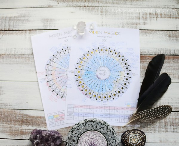 How to use a Moon Tracker or Moon Chart || Mandala Soul Designs