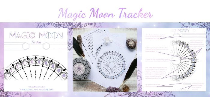 Magic Moon Tracker || Keep track of your natural rhythms with this free Moon Phenology Wheel || Mandala Soul Designs