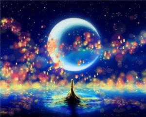 луна и океан женщ