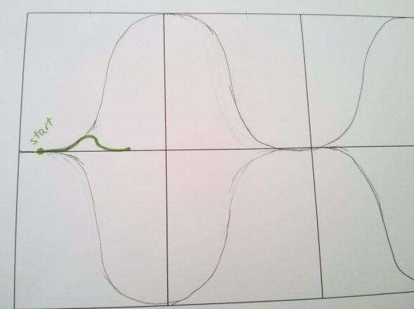 An exaggerated S-curve
