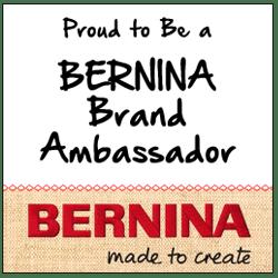 Proud to be a BERNINA Brand Ambassador