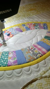 quilted with a double layer of cotton batting