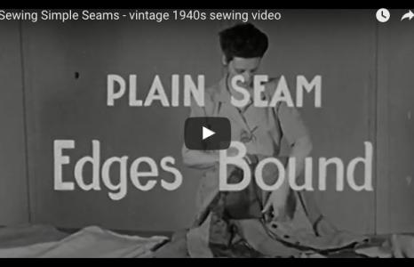 sewing simple seams