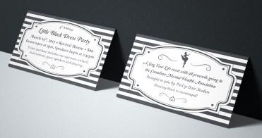 Little Black Dress Party - Ticket Design