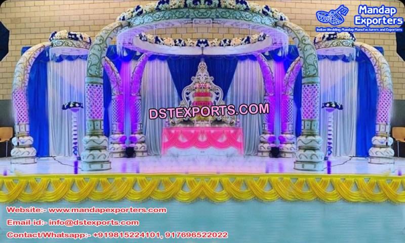 Elegant Wedding Trunk Pillar Mandap