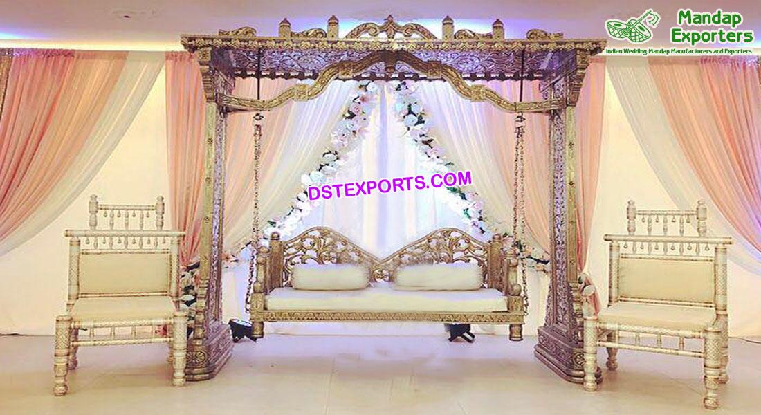 Muslim Wedding Sangeet Stage Jhula Set Mandap Exporters