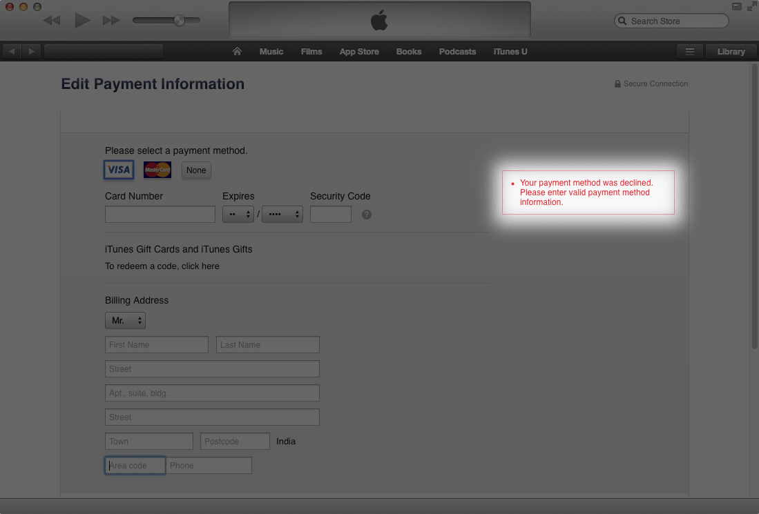 Why Is My Payment Method Declined On App Store