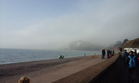 Lots of low cloud when we set out