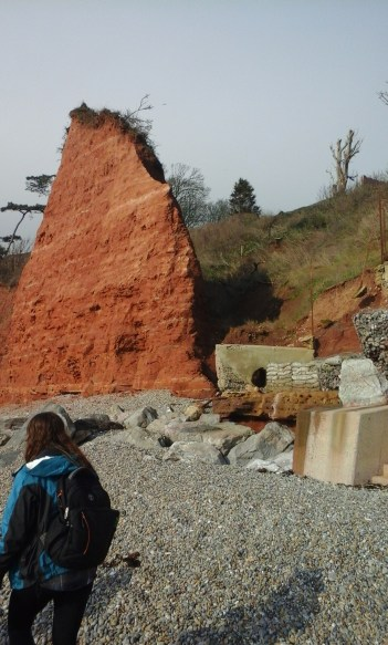 Red cliffs by the time we reached Sidmouth