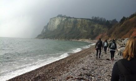 White cliffs when we started