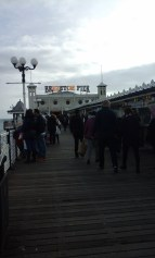 The pier would be even more crowded in Summer, I imagine
