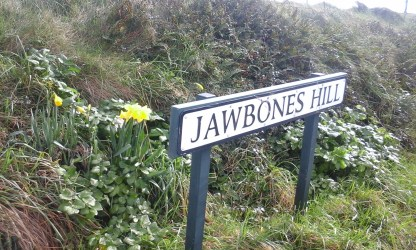 "We never found out why it was called ""Jawbones Hill"" although it did mean I spent some time telling stories of Maui and his grandmothers jawbone"