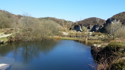 The abandoned quarry was event more beautiful that I remembered