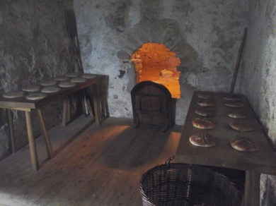 The keep wwas set up to show how the rooms were used. I think this was the bakery :P