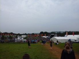 Looking towards the main stage, seeing some of the multitude of people