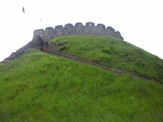 The Shell Keep on top of the motte