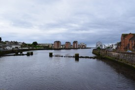 A bridge in Ayr, looking towards the sea