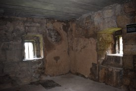 Inside one of the tower rooms