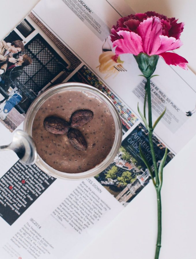 Cocoa and chia pudding