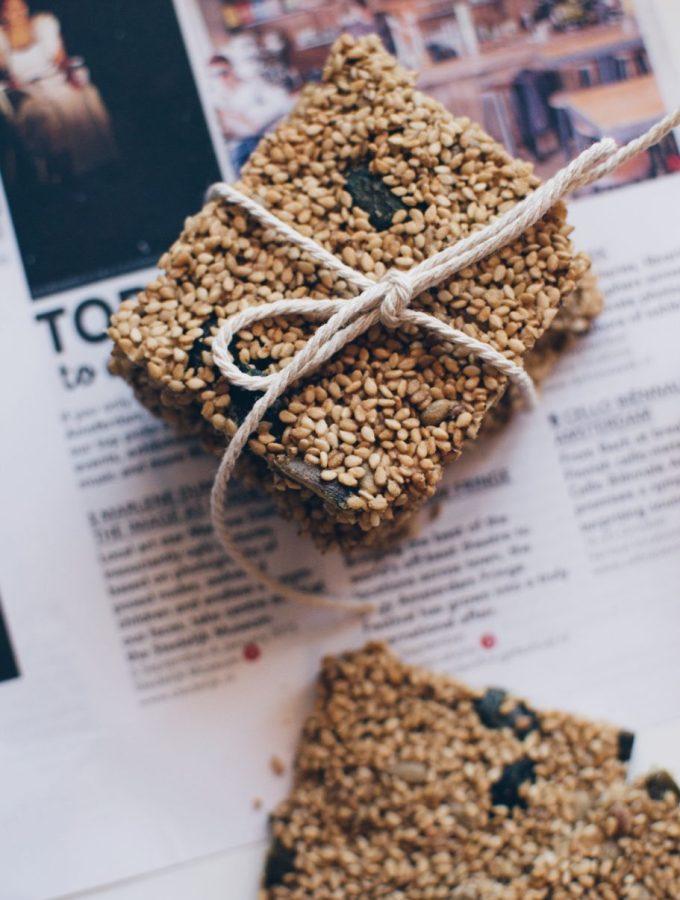 Sesame crisps – a super yummy healthy treat