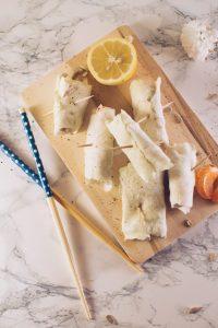 White cabbage ricotta and tuna wraps