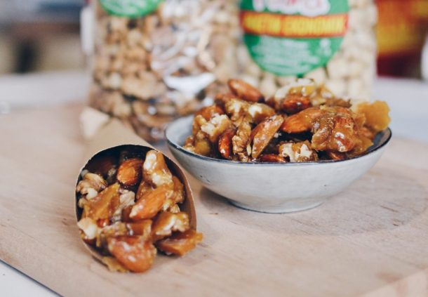 Caramelized nuts