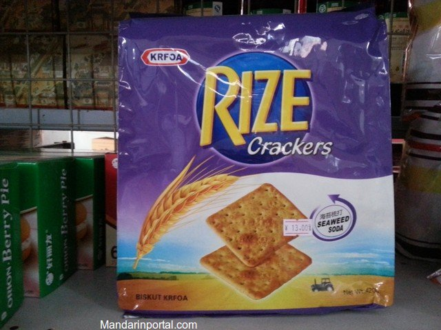 Fake Purple Kraft Crackers