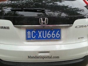 666 In Chinese White Van License Plate B