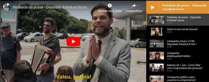 Confira os vídeos do Mandato Goura.