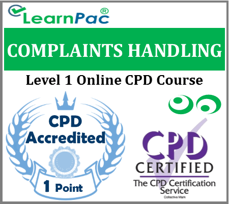 Complaints Handling Training - Level 1 Online CPD Accredited Training Course