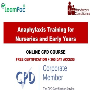 Anaphylaxis Training for Nurseries and Early Years - Mandatory Training Group UK -
