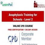 Anaphylaxis Training for Schools - Level 2 - Mandatory Training Group UK -