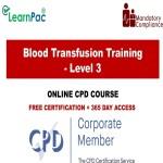 Blood Transfusion Training – Level 3 – The Mandatory Training Group UK –