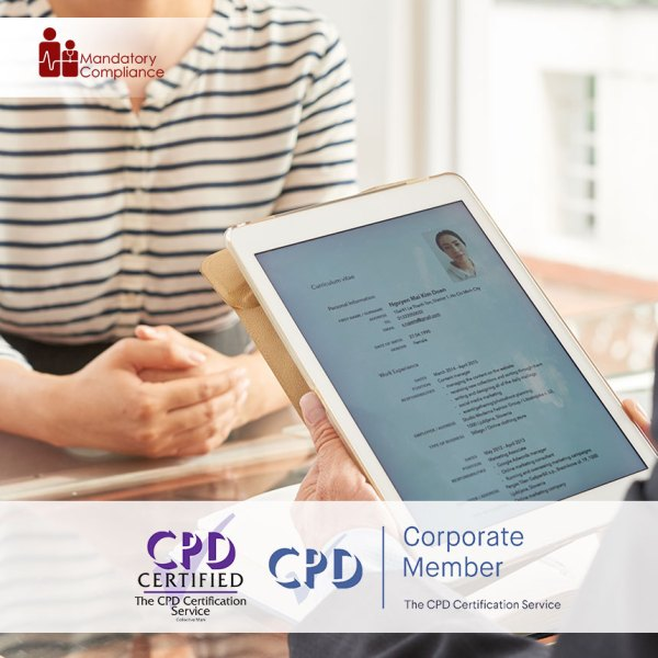 CV Writing Skills – Online Training Course – CPDUK Accredited – Mandatory Compliance UK –