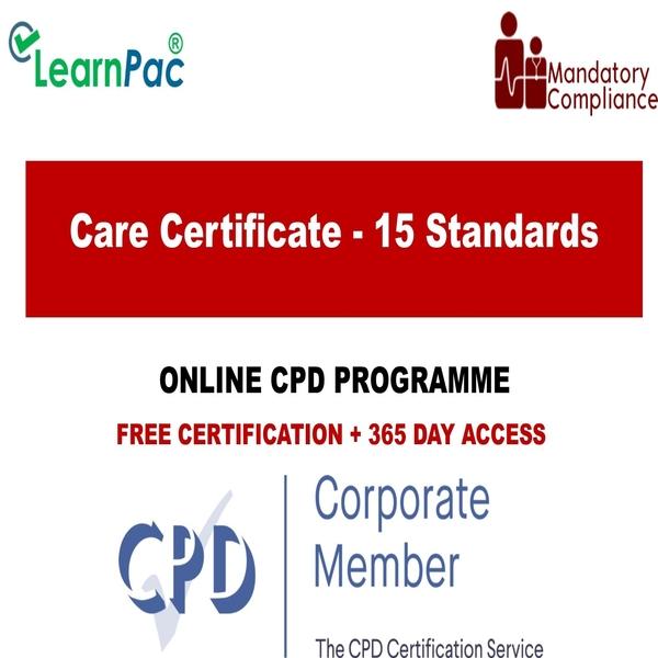 Care Certificate – 15 Standards – The Mandatory Training Group UK –