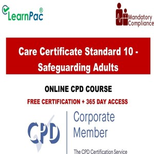 Care Certificate Standard 10 - Safeguarding Adults - Mandatory Training Group UK -