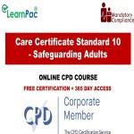 Care Certificate Standard 10 – Safeguarding Adults – The Mandatory Training Group UK –