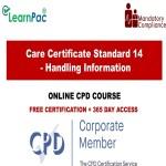 Care Certificate Standard 14 - Handling Information - The Mandatory Training Group UK -
