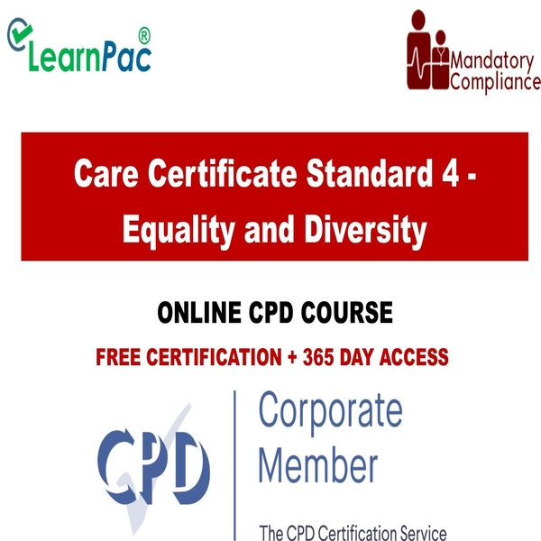 Care Certificate Standard 4 – Equality and Diversity – Mandatory Training Group UK –