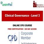 Clinical Governance - Level 3 - Online Training Course - The Mandatory Training Group UK -
