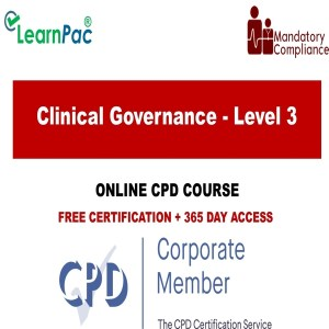 Clinical Governance - Level 3 - Online Training Course - The Mandatory Training Group UK -